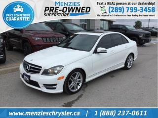 Used 2014 Mercedes-Benz C-Class 300, AWD, Sunroof, Cam, Clean Carfax for sale in Whitby, ON
