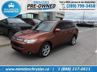 Used 2014 Mitsubishi Outlander GT 4x4, Sunroof, Leather, Cam, Clean Carfax for sale in Whitby, ON