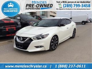 Used 2016 Nissan Maxima SR, Bluetooth, Navigation, One Owner for sale in Whitby, ON