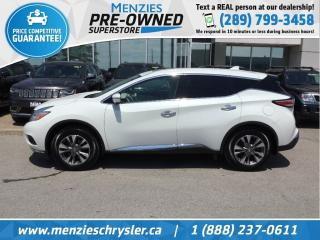 Used 2017 Nissan Murano SL AWD, Navi, Pano Roof, One Owner, Clean Carfax for sale in Whitby, ON