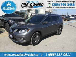 Used 2016 Nissan Rogue SL AWD, Pano Roof, Navi, Cam, Clean Carfax for sale in Whitby, ON