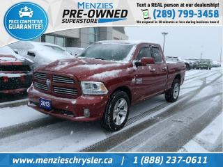 Used 2013 RAM 1500 Sport Hemi 4x4, Bluetooth, Clean Carfax for sale in Whitby, ON