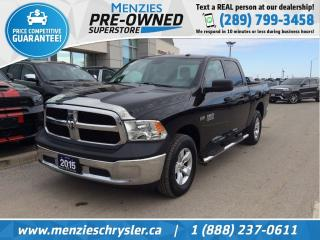 Used 2015 RAM 1500 SXT Hemi 4x4, Hitch, One Owner, Clean Carfax for sale in Whitby, ON