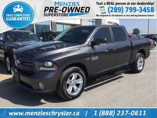 Used 2017 RAM 1500 Sport Hemi 4x4, Sunroof, One Owner, Clean Carfax for sale in Whitby, ON