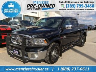 Used 2017 RAM 1500 Laramie Eco-Diesel 4x4, Navi, Clean Carfax for sale in Whitby, ON