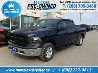 Used 2017 RAM 1500 SXT Hemi 4x4, Bluetooth, One Owner, Clean Carfax for sale in Whitby, ON