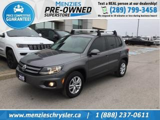 Used 2015 Volkswagen Tiguan Comfortline TSI 4-Motion, Bluetooth, Clean Carfax for sale in Whitby, ON