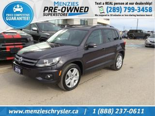 Used 2016 Volkswagen Tiguan Comfortline AWD, Sunroof, One Owner, Clean Carfax for sale in Whitby, ON