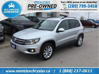 Used 2017 Volkswagen Tiguan Wolfsburg Edition AWD, Cam, Clean Carfax for sale in Whitby, ON