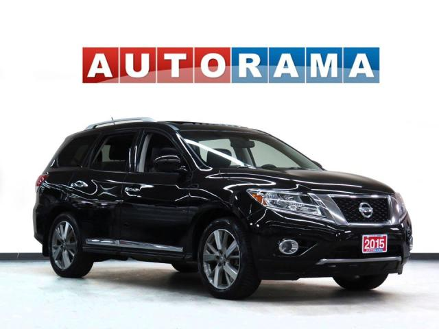 2015 Nissan Pathfinder Platinum 4WD Nav Leather Pano-Sunroof Bcam 7Pass