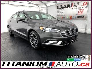 Used 2018 Ford Fusion ENERGI+Titanium+GPS+Blind Spot+Lane Assist+Leather for sale in London, ON