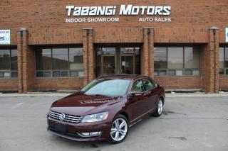Used 2014 Volkswagen Passat NAVIGATION I LEATHER I SUNROOF I REAR CAM I KEYLESS ENTRY BT for sale in Mississauga, ON