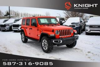 Used 2020 Jeep Wrangler Unlimited Sahara for sale in Medicine Hat, AB
