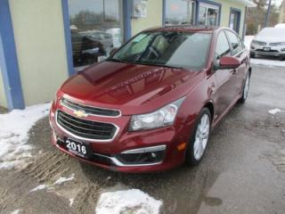 Used 2016 Chevrolet Cruze LOADED 2-LT EDITION 5 PASSENGER 1.4L - TURBO.. LEATHER.. HEATED SEATS.. POWER SUNROOF.. PIONEER AUDIO.. BACK-UP CAMERA.. for sale in Bradford, ON