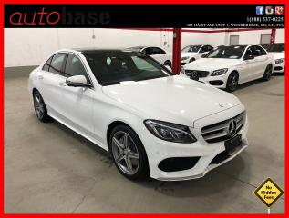 Used 2017 Mercedes-Benz C-Class C300 4MATIC PREMIUM PLUS SPORT LED EASY-PACK CLEAN CARFAX! for sale in Vaughan, ON