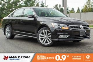 Used 2016 Volkswagen Passat Highline SINGLE OWNER, NO ACCIDENTS, LOCAL CAR! for sale in Maple Ridge, BC