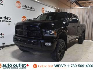 Used 2014 RAM 3500 Laramie, 6.7L I6, 4x4, Mega cab, Short box, Navigation, Front & rear heated leather seats, Heated steering wheel, Backup camera, Sunroof, Bluetooth for sale in Edmonton, AB