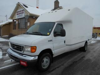 2007 Ford E-450 DIESEL Dually 15Ft AeroCell Cube Van ONLY 76,000Km