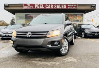 Used 2012 Volkswagen Tiguan | HIGHLINE 4Motion| VIDEO.CALL.US| PANO-ROOF | LEATHER | BLUETOOTH | HEATED SEATS | CARFAX CLEAN| for sale in Mississauga, ON