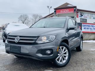 Used 2013 Volkswagen Tiguan HIGHLINE 4MOTION | LEATHER | PANO-ROOF | BLUETOOTH | HEATED SEATS | CAR FAX CLEAN | CERTIFIED for sale in Guelph, ON