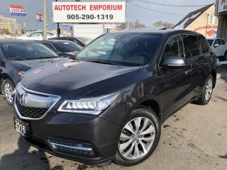 Used 2016 Acura MDX SH-AWD NAvigation PKG Leather/Sunroof/Alloys for sale in Mississauga, ON