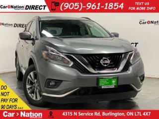 Used 2018 Nissan Murano SV| AWD| PANO ROOF| NAVI| HEATED STEERING WHEEL| for sale in Burlington, ON
