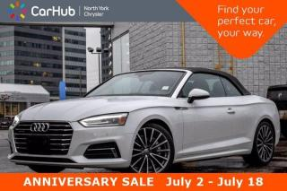Used 2019 Audi A5 Cabriolet Progressiv Navigation Satellite Radio Backup Camera Heated Front Seats for sale in Thornhill, ON
