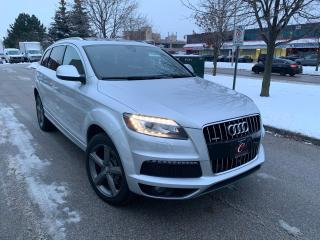 Used 2015 Audi Q7 TDI SLINE NAVI 360-CAM PANO LANE BLINDSPOT WARRANTY 7PASS for sale in Concord, ON