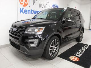 Used 2016 Ford Explorer Sport 4WD ecoboost with NAV, sunroof, heated/cooled power leather seats, rear climate control for sale in Edmonton, AB