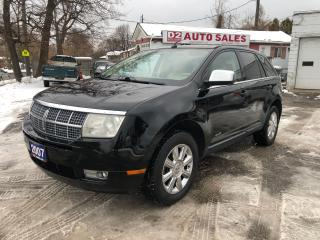Used 2007 Lincoln MKX AWD/Automatic/Leather/Panoramic Roof/Loaded for sale in Scarborough, ON