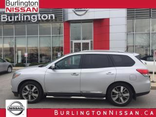Used 2015 Nissan Pathfinder Platinum, ACCIDENT FREE, 1 OWNER ! for sale in Burlington, ON