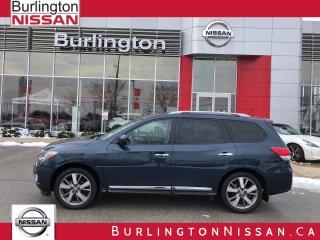 Used 2015 Nissan Pathfinder Platinum, ACCIDENT FREE, 1 OWNER ! for sale in Burlington, ON