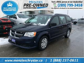 Used 2017 Dodge Grand Caravan Canada Value Package, One Owner, Clean Carfax for sale in Whitby, ON