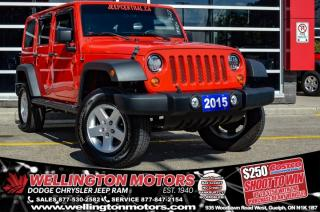 Used 2015 Jeep Wrangler Unlimited Sport / 6 Spd Manual / Low K's ... for sale in Guelph, ON