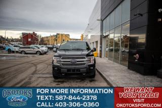 Used 2018 Ford F-150 Platinum 4X4, MAX TRAILER TOW PACKAGE, TECH PACK, NAV, MOONROOF, SYNC CONNECT, HEATED 2ND ROW for sale in Okotoks, AB