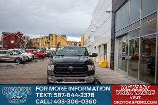 Used 2017 RAM 1500 SLT 4X4, Trailer tow mirrors & Brake Controller Remote Start Rear Camera Uconnect  Nav A/C Heated Front for sale in Okotoks, AB