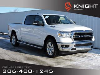 New 2020 RAM 1500 Big Horn Crew Cab 4X4 | 5.7L HEMI V8 | 124L Fuel Tank | Remote Start | Back-up Camera | Bluetooth for sale in Weyburn, SK