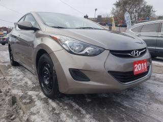 Used 2011 Hyundai Elantra GL-BLUETOOTH-E RUST INHIBITOR-R STARTER-AUX-USB for sale in Scarborough, ON