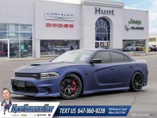 Used 2016 Dodge Charger SRT 392 | BLUE WRAP | BLACK ROOF | SUN | HK AUDIO! for sale in Milton, ON