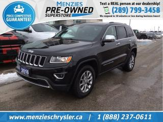 Used 2016 Jeep Grand Cherokee Limited 4x4, Navi, Cam, One Owner, Clean Carfax for sale in Whitby, ON