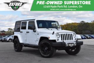 Used 2018 Jeep Wrangler Unlimited Sahara - Rustproofed & Undercoated, GPS, for sale in London, ON