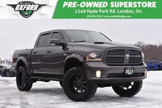Used 2015 RAM 1500 Sport - Tonneau Cover, Lifted, Bedliner for sale in London, ON