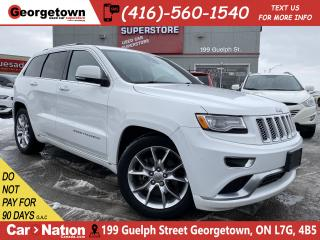 Used 2015 Jeep Grand Cherokee Summit | 4X4 | LEATHER | NAVI | BU CAM | ROOF | HK for sale in Georgetown, ON