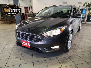 Used 2018 Ford Focus Titanium | Power SunRoof | Leather | Apple CarPlay Android Auto | Remote Starter | Heated Steering Wheel for sale in North York, ON