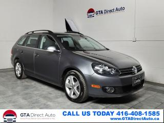 Used 2013 Volkswagen Golf Wagon Comfortline TDI 6-Speed Panoroof Heated Certified for sale in Toronto, ON