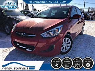 Used 2015 Hyundai Accent GL 5 PORTES, BLUETOOTH, BANCS CHAUFFANTS for sale in Blainville, QC
