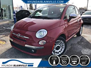 Used 2013 Fiat 500 LOUNGE, TOIT, CUIR, MAGS for sale in Blainville, QC