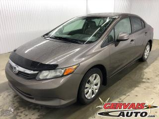 Used 2012 Honda Civic LX A/C for sale in Trois-Rivières, QC