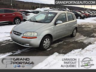 Used 2005 Chevrolet Aveo HB 5 portes LT AUTOMATIQUE for sale in Rivière-Du-Loup, QC