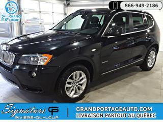 Used 2014 BMW X3 xDrive28i 4 portes TI for sale in Rivière-Du-Loup, QC